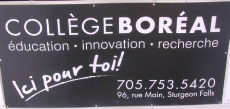 Sign - COllege Boreal