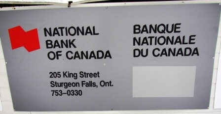 Sign - National Bank