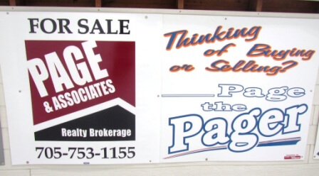 Sign - Page Real Estate