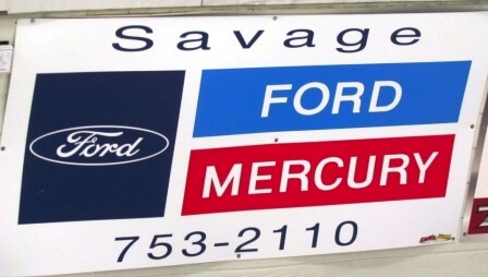 Sign - Savage Ford